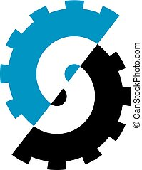 S logo icon for industrial business.