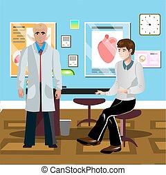 s, mâle, patient, docteur