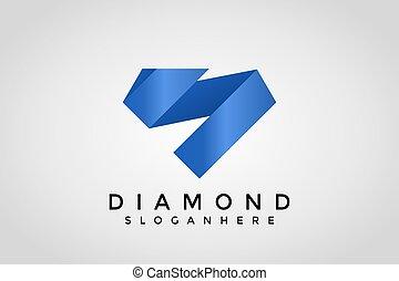 S Origami Logo. S Letter Diamond Icon Design Vector Illustration