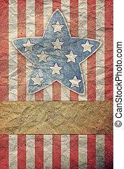 s, trabajo, bandera, u, 4, julio, día