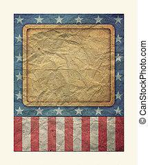 s, trabalho, bandeira, u, 4th, julho, dia