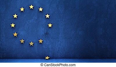 saída, de, a, eurozone, conceito