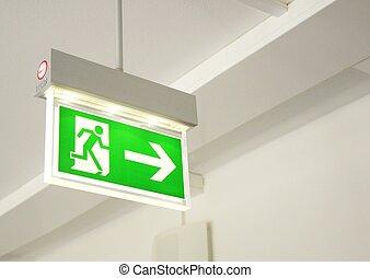 saída emergência