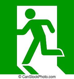 saída emergência, sinal