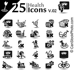 saúde, ícones, v.02