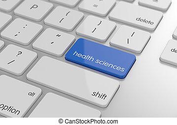 saúde, botão, ciência