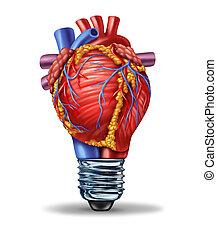 saúde coração, idéias