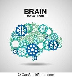 saúde, desenho, mental