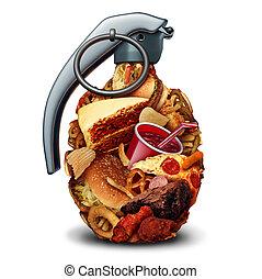 saúde, dieta insalubre, risco