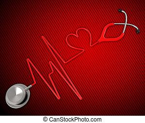 saúde médica, mostra, medicina preventiva, e, cardiacos