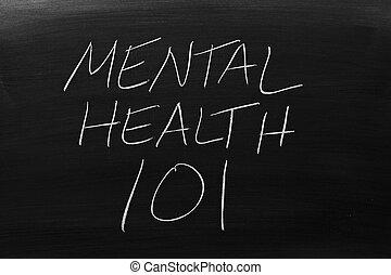 saúde mental, 101, ligado, um, quadro-negro