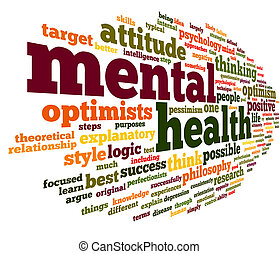 saúde mental, em, palavra, tag, nuvem
