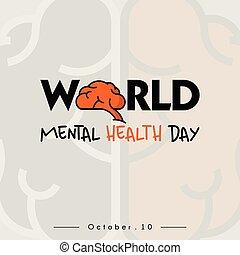 saúde, mental, mundo, dia
