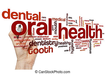 saúde oral, palavra, nuvem