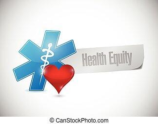saúde, papel, bandeira, ilustração, capital próprio