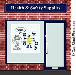 saúde, segurança, materiais