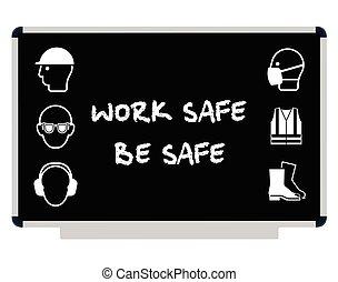 saúde segurança, mensagem