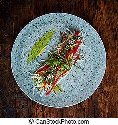 sałata, organiczny, warzywa, assorted., zdrowy