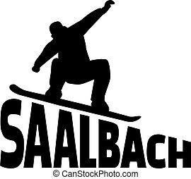 Saalbach snowboarding