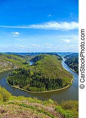 Saar loop at Cloef. A famous view point.