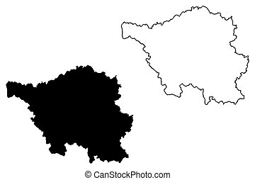 Saarland map - Saarland (Federal Republic of Germany, State...