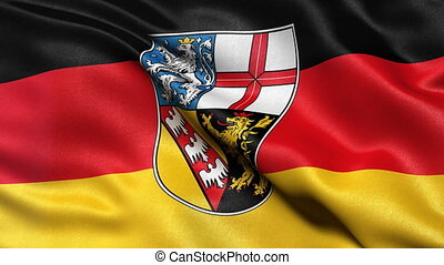 Saarland state flag seamless loop