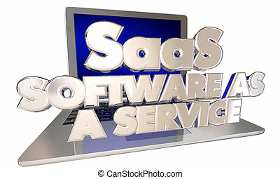 SaaS Software as a Service Computer Laptop Online Digital Subscription App