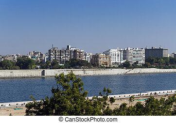 Sabarmati Riverfront in Ahmedabad, Gujarat, India