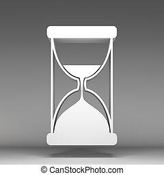sabbia, 3d, orologio, icona
