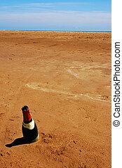 sabbia, bottiglia