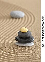 sabbia, giardino zen