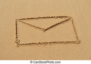 sabbia, lettera