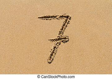 sabbia, numero