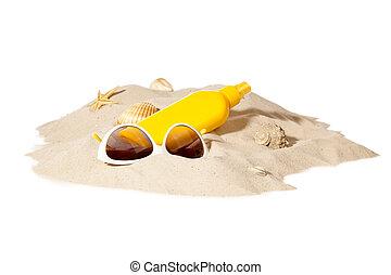sabbia spiaggia, concetto, mucchio