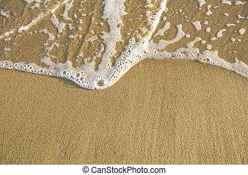 sabbia spiaggia, morbido, waves., struttura