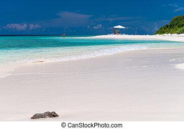 sabbia spiaggia, ombrello, bianco