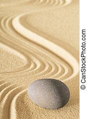 sabbia, zen, giardino pietra