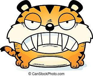 saber-toothed, tigre, enojado