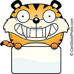 saber-toothed, tigre, señal