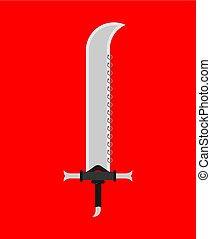 Saber weapon isolated. glaive warrior. Ancient blade Sword. Slashing weapon Knight vector illustration?