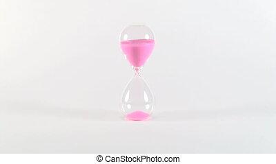 sable, 30, horloge, rose