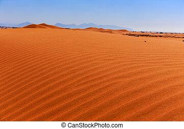 sable, arabe, désert, rouges