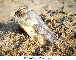 sable, bouteille