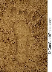sable, caractères pied