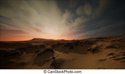 sable, désert, orage