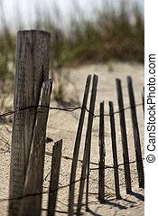 sable, dune., barrière