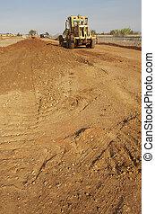 sable, excavateur, déchargement