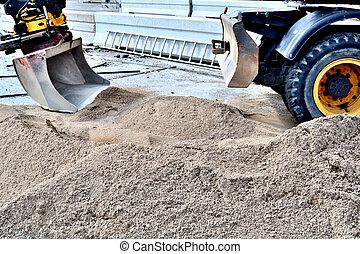 sable, excavateur