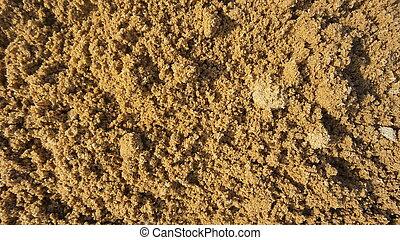 sable, grossier