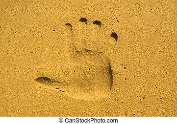 sable, handprint